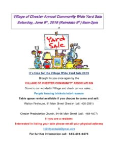 VOC ANNUAL COMMUNITY WIDE         YARD SALE @ WALTON AND HOUSE FIRE HOUSE