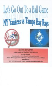 NY YANKEES vs TAMPA BAY GAME