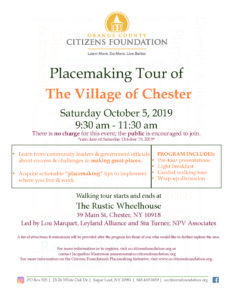 Village of Chester Placemaking Tour @ The Rustic Wheelhouse