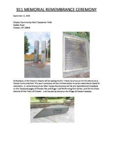 911 MEMORIAL REMEMBRANCE CEREMONY