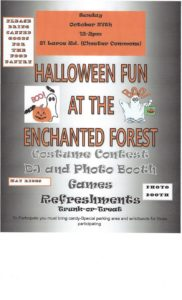 THE ENCHANTED FOREST HALLOWEEN PARTY @ CHESTER COMMONS