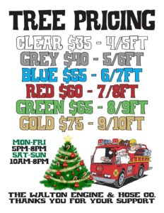 Walton Engine & Hose Company Tree Sale